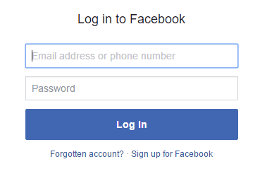 Step 5 - Login to Facebook